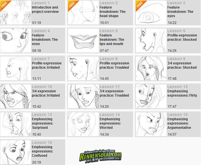 《Photoshop风格化角色表情绘制教程》Digital-Tutors Drawing Expressions for a Stylized Character in Photoshop