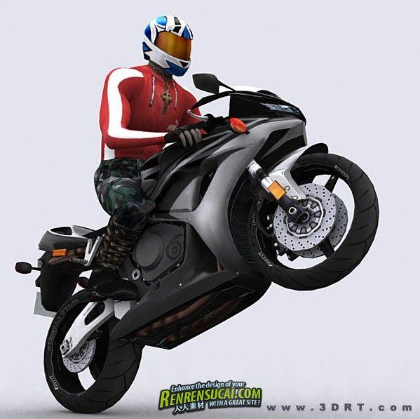 《摩托车手3D模型合辑》3DRT Bikes Collection 3D Models