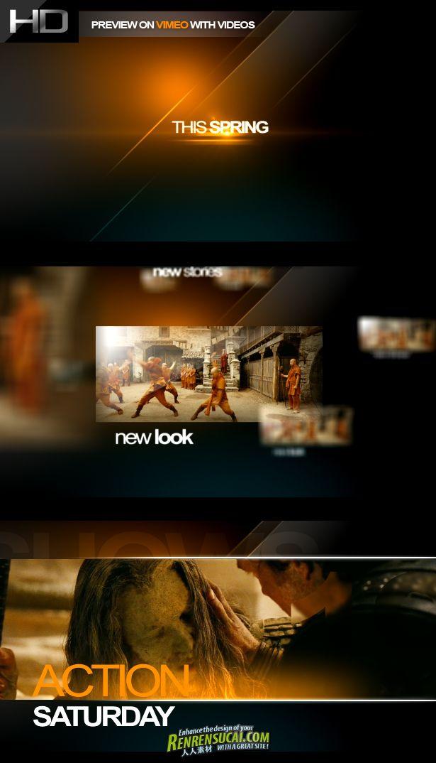 《第四频道 AE包装模板》Videohive Channel Four 1863659 After Effects Project