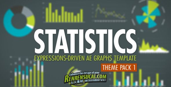 《数据统计主题包合辑 AE模板》Videohive Statistics Theme Pack 1 1723519 After Effects Project