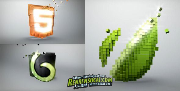 《标识破碎 AE模板》Videohive Voxel Channel 2081725 After Effects Project