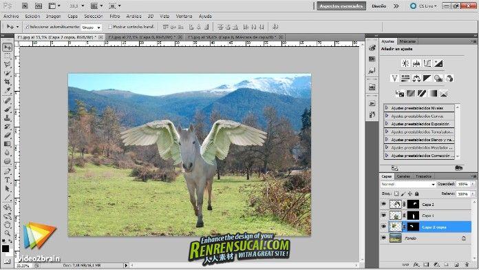《Photoshop神奇动物制作教程》Video2Brain Creation of fantastic animals with Photoshop Spanish