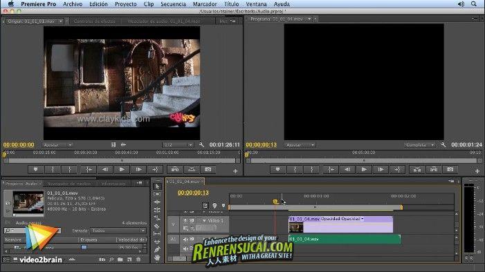 《Premiere CS6视频编辑教程》video2brain Foundations of Premiere Pro CS6