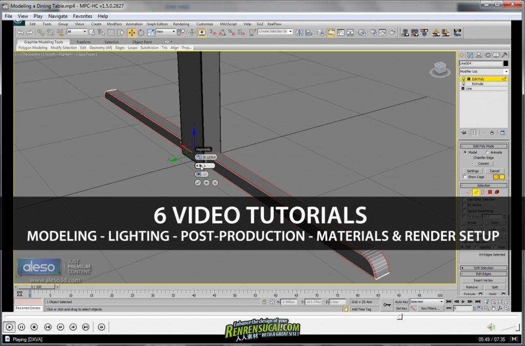 《家庭场景3D模型+教程合辑》Aleso3D Realistic Max and Vray Scene