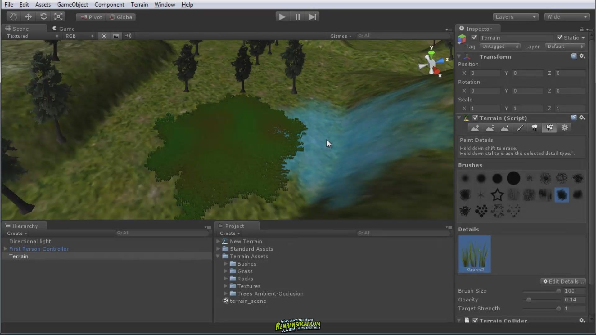 《Unity材料与地形场景制作教程》3DMotive Unity 3.5 Assets Materials and Terrain