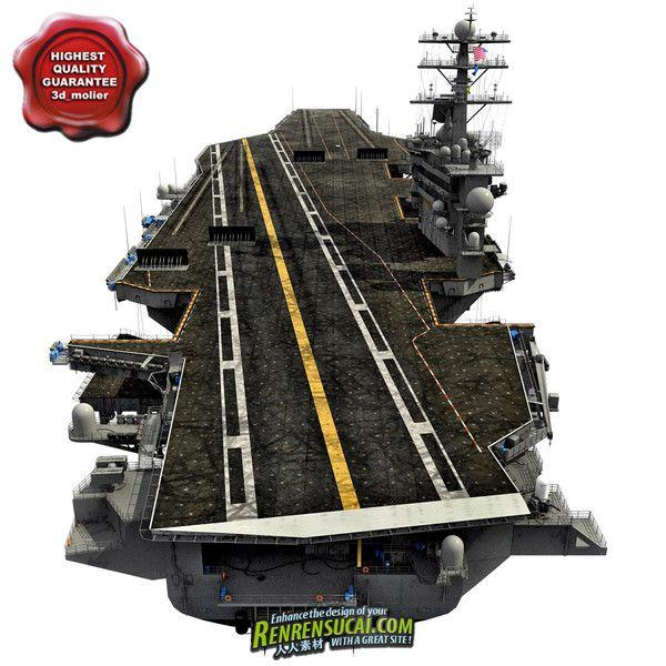 《美国约翰·C·斯坦尼斯号航母模型》Turbosquid USS John C Stennis CVN-74 3D Model