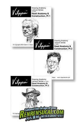 《绘画的语言系列-手绘素描教程合辑Vol.1-17》Glen Vilppu Language of Drawing Series Vol 1-17