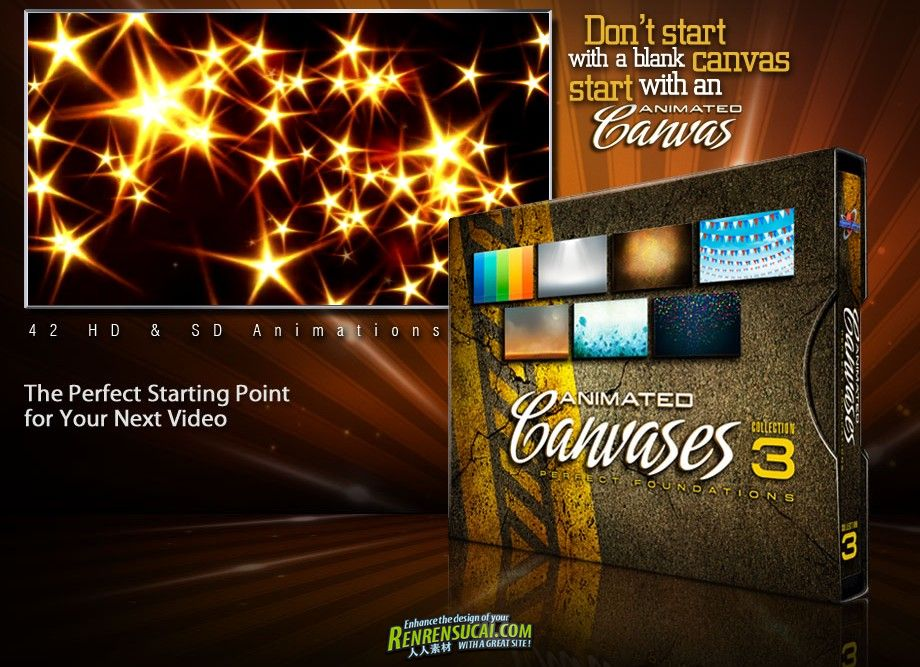 《DJ最强动态背景视频素材合辑Vol.3》Digitaljuice Animated Canvases Collection 03 Perfect Foundations