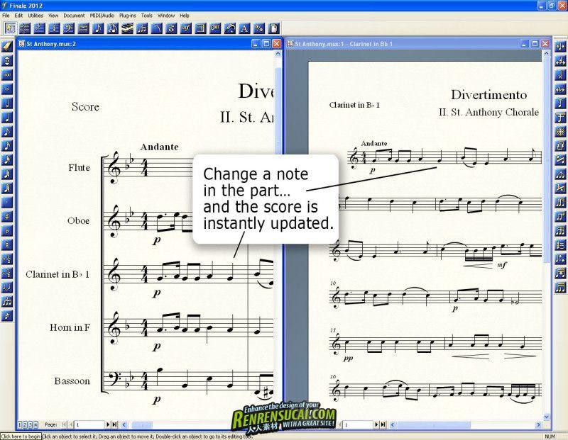 《专业乐谱绘制软件》MakeMusic Finale 2012b Update