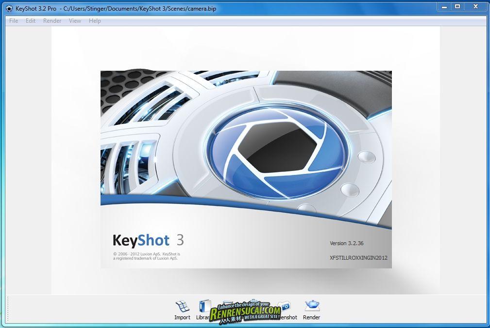 《实时光线追踪渲染程序Luxion Keyshot Pro V3.2.36破解版 32/64位》Luxion KeyShot 3.2.36 x32/x64 X-FORCE
