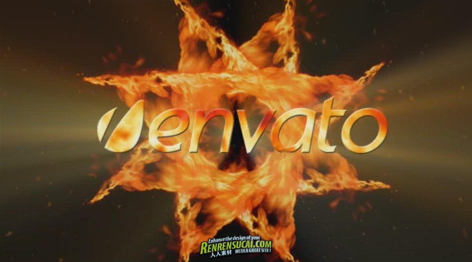 《燃烧火焰Logo AE模板》VideoHive Fire Logo Project for After Effects