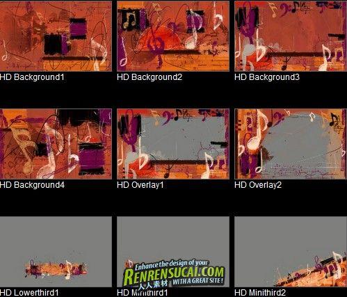 《运动音乐元素视频素材 DJ主题包装系列第105集》Digital Juice Editors Themekit 105 Notes In Motion