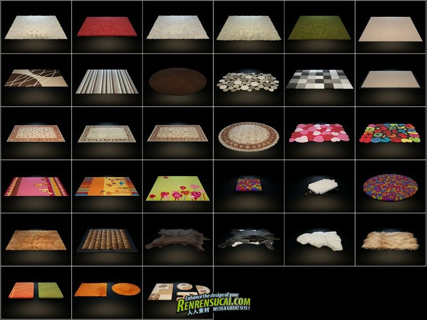 《高精地摊地板3D模型合辑》HQ Details Vol 3 Carpets