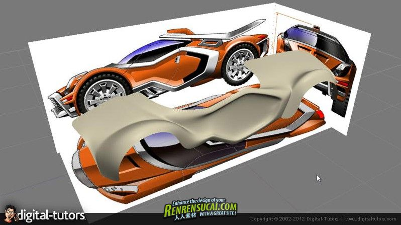 《Maya与Silo赛车建模视频教程》Digital-Tutors Creative Development Real-Time Vehicle Creation in Maya and Silo