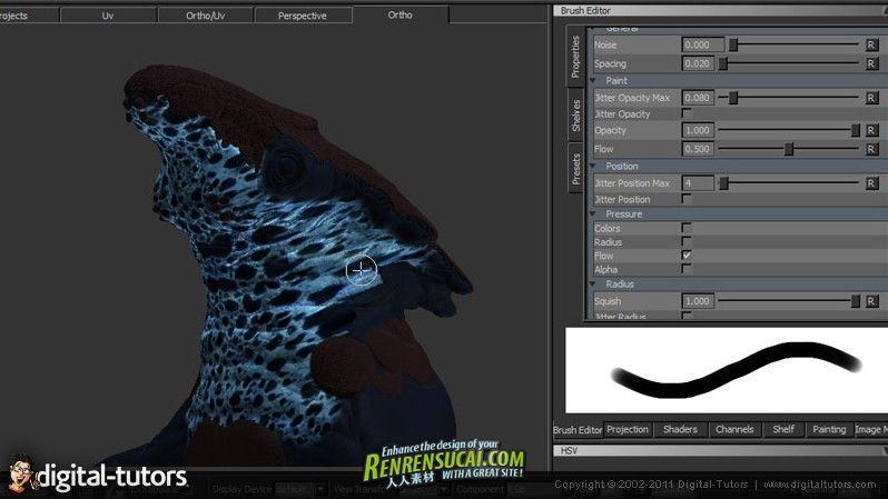 《MARI彩绘与图像纹理视频教程》Digital-Tutors Combining Painted and Image Based Textures in MARI