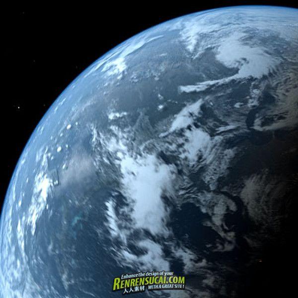 《高精度动态旋转地球3D模型》Turbosquid Photoreal Dynamic Earth