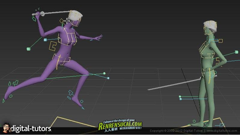 《3dsMax游戏多角色互动动画视频教程》Digital-Tutors Character Interaction in 3ds Max