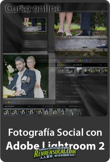 《Photoshop Lightroom数码摄影影像教程》video2brain Social Photography With Adobe Photoshop Lightroom 2 Spanish