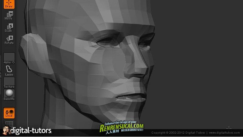 《ZBrush制作女性雕刻插画造型教程》Digital-Tutors Creative Development Sculpting Models for Illustration in ZBrush