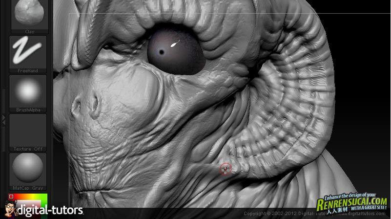 《ZBrush雕刻技术视频教程》Digital-Tutors Monster Sculpting Techniques in ZBrush