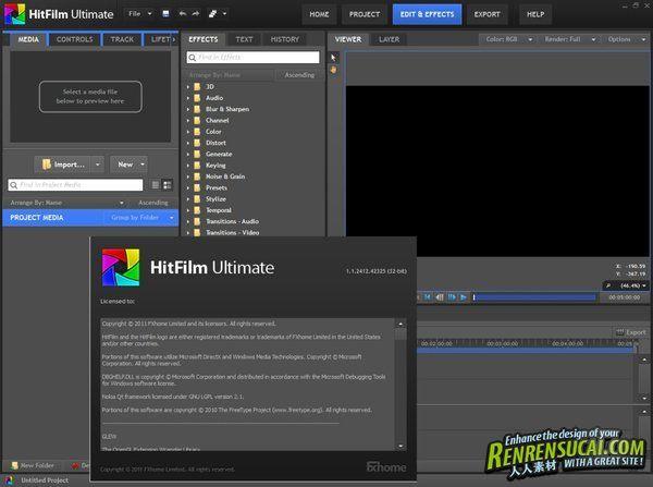《电影编辑软件解决方案》HitFilm Ultimate V1.1.2525 x32/x64