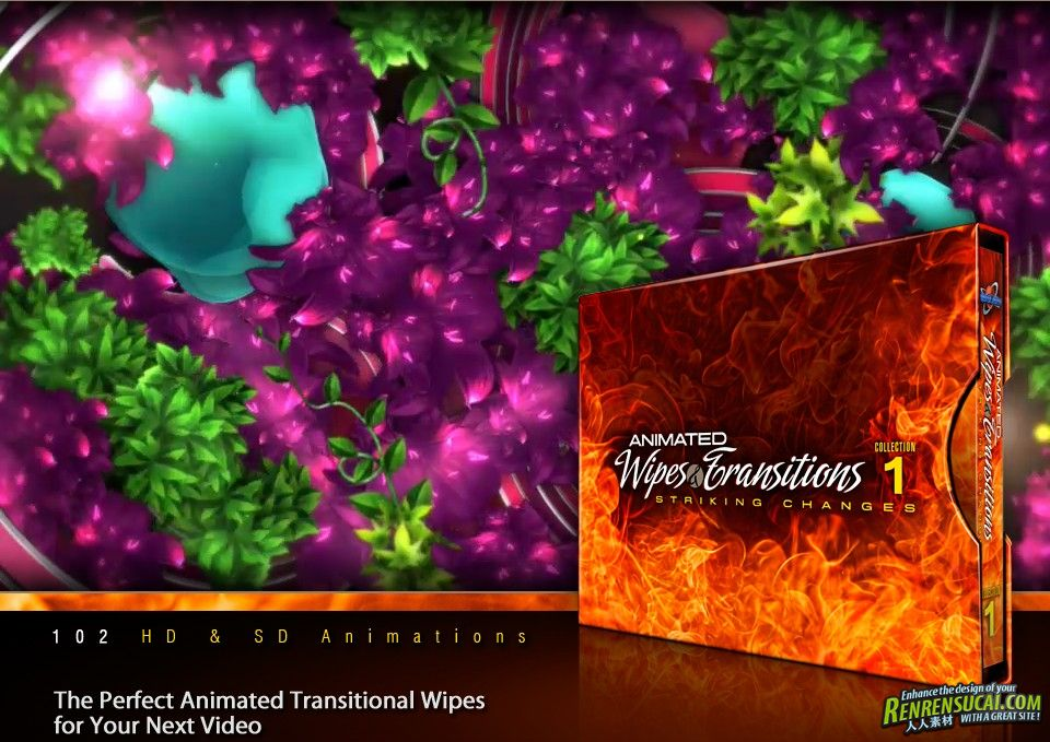 《DJ转场特效视频素材合辑Vol.1》Digital Juice Animated Wipes and Transitions Collection 1 Striking Changes