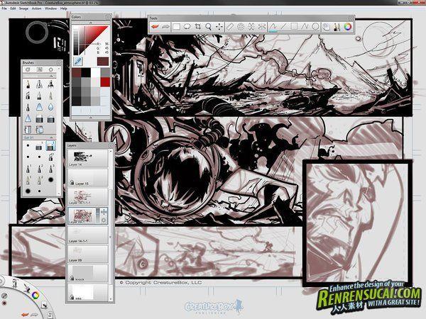 《角色绘制软件V6.0.1版》Autodesk SketchBook Pro 6.0.1 Win/Mac XFORCE
