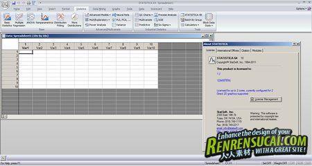 《史丹索特数据统计分析软件》StatSoft STATISTICA (iso) 10.0 Enterprise 带升级包