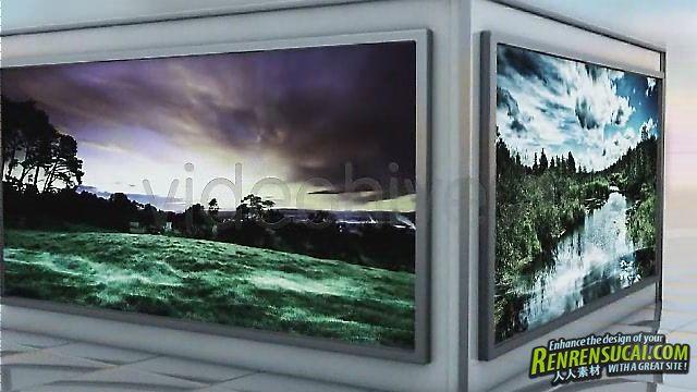 《三维立体展示 AE模板》Videohive Quiet 3D Elegant Slideshow 291210