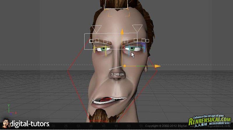 《C4D人物面部表情动画教程》Digital-Tutors Facial Rigging in CINEMA 4D