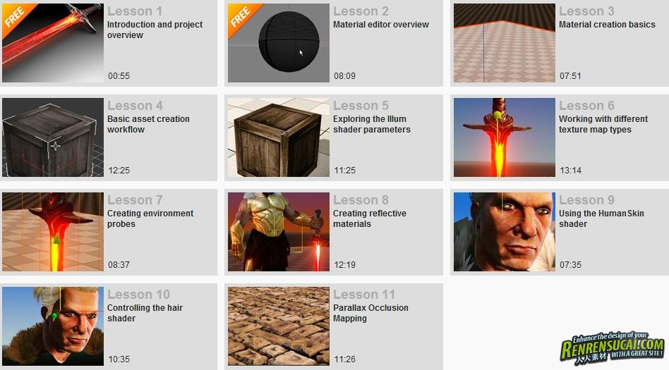 《CryENGINE材质着色教程》Digital-Tutors Material Creation Workflows in CryENGINE