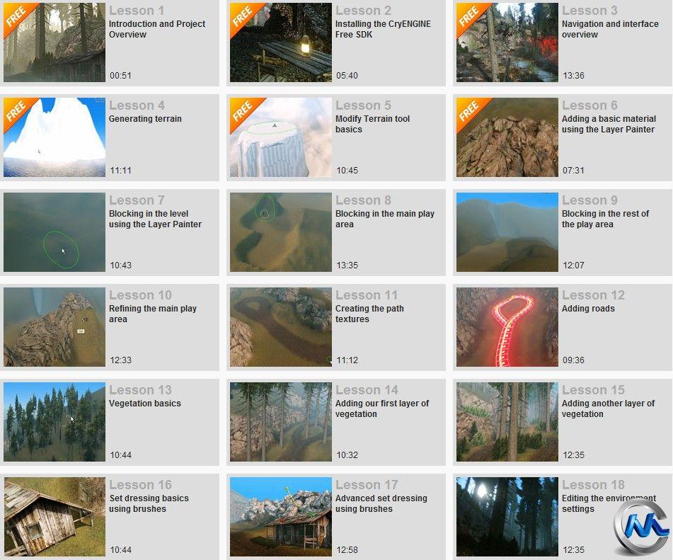 《CryENGINE基础入门教程》Digital-Tutors Introduction to CryENGINE Extra Lessons