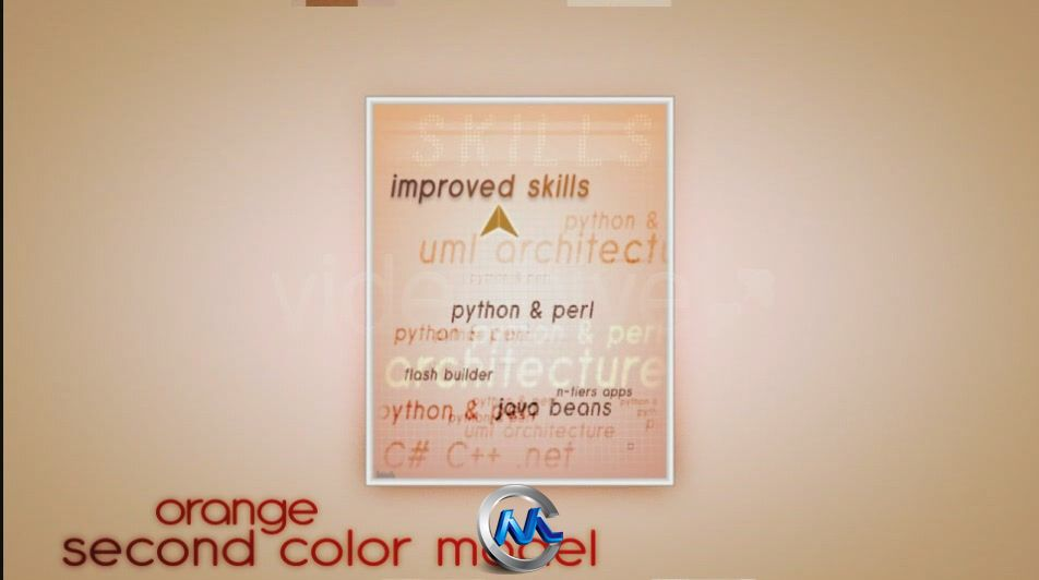 《视觉简历 AE模板》videohive visual resume alpha animated curriculum 123255