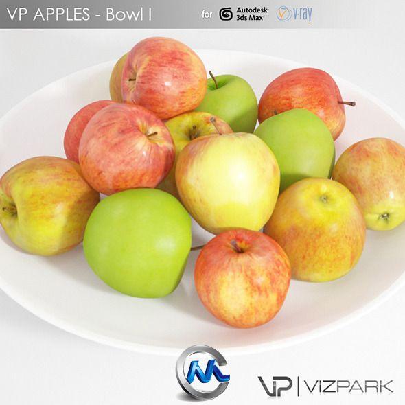 《苹果高精度3d模型》3docean Apples 2660772
