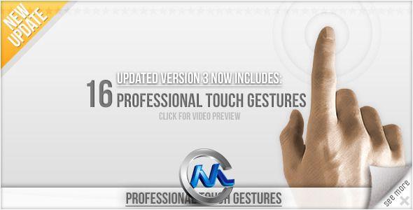《多点触摸手势 AE模板》videohive professional touch gestures 303783