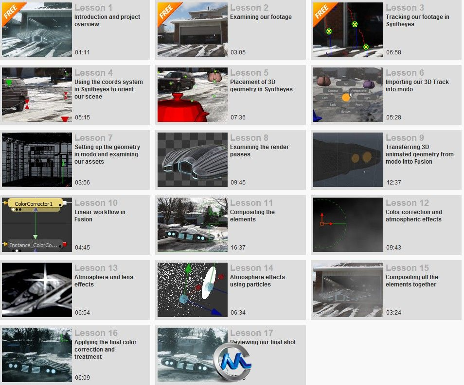 《Syntheyes现实场景CG合成技术教程》Digital-Tutors Creative Development Realistic Compositing in Fusion