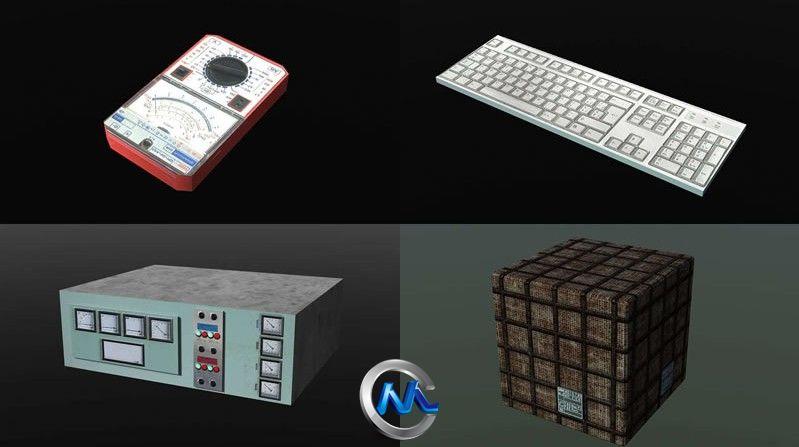 《科幻游戏场景道具3D模型合辑》Dexsoft Sci-Fi Storage Model pack