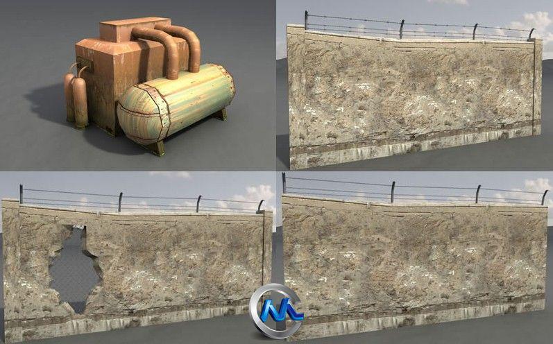 《老工业基地建筑和设施3D模型合辑2》Dexsoft Industrial 2 Model pack