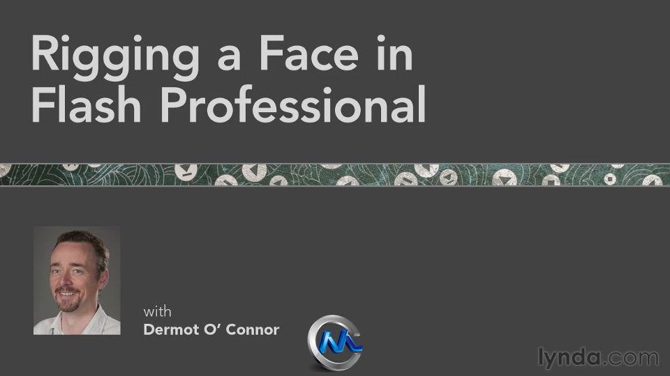 《Flash人物脸部动画制作教程》Lynda.com Rigging a Face in Flash Professional