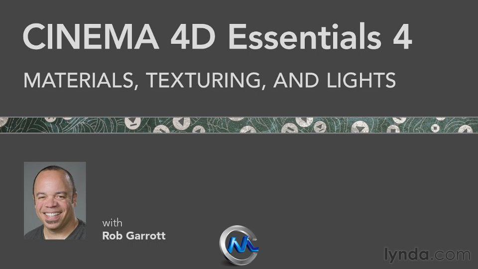 《C4D基础训练教程合辑Vol.1-9》Lynda.com CINEMA 4D Essentials 1-9