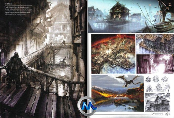 《上古卷轴5-天际 游戏原画珍藏版》Skyrim Collectors Edition Artbook