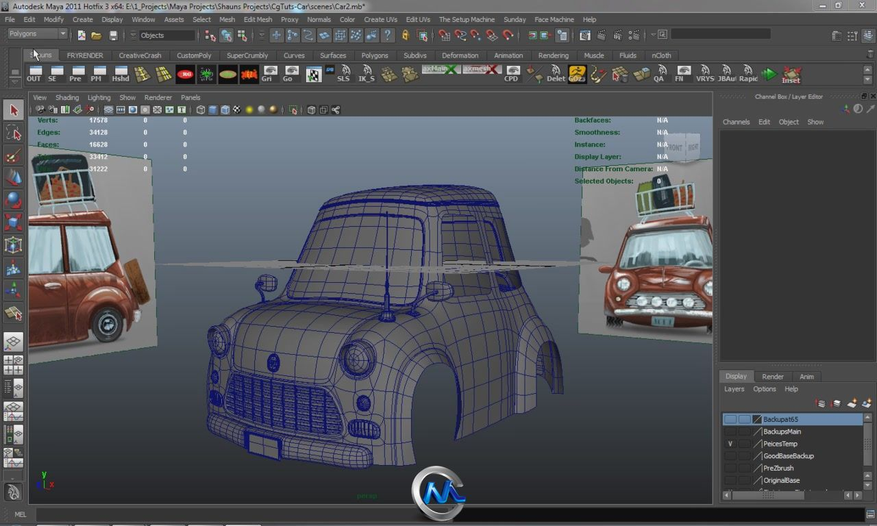 《Maya制作个性汽车视频教程》CGTuts+ Create A Stylized Car In Maya