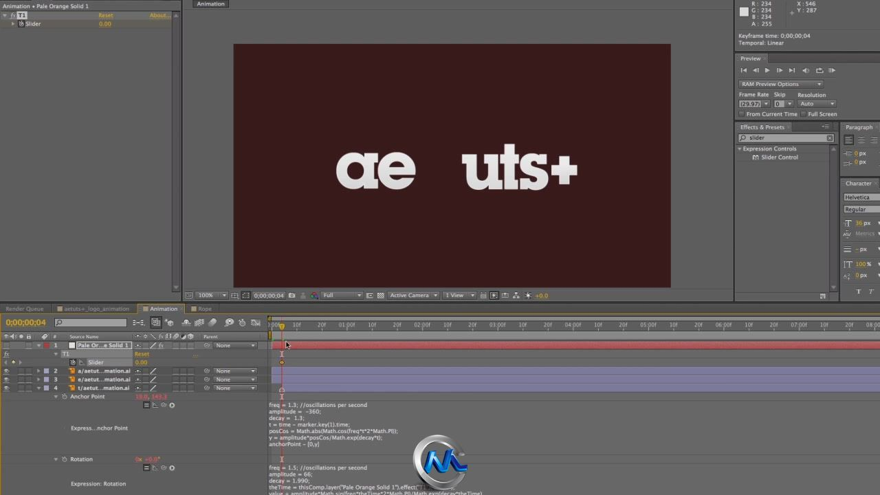 《AE跳跃绳索文字Logo教程》AETuts+ Drop In Your Logo With Some Bouncing Ropes