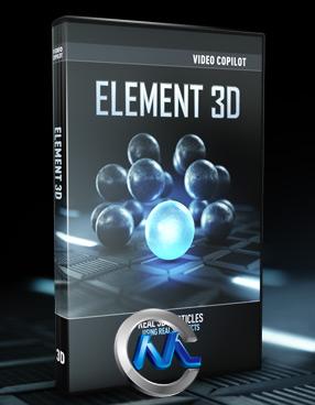 《Element 3d苹果完美破解版+模型合辑》VideoCopilot Element 3D v 1.0.345 Mac OSX