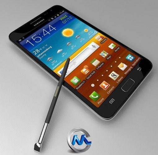 《三星GalaxyNote手机3D模型》3docean Samsung Galaxy Note 2499156