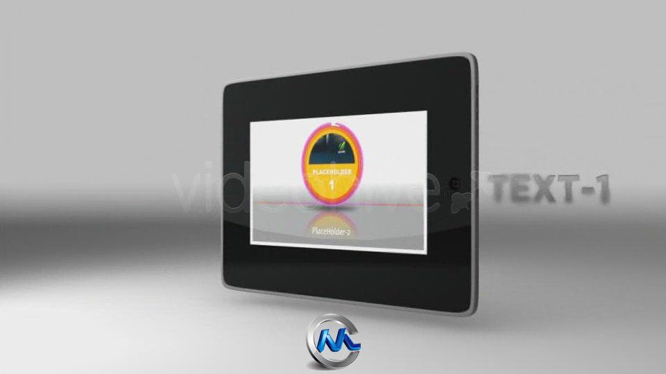 《Ipad展示板式AE模板》VideoHive Pad reveal 123206
