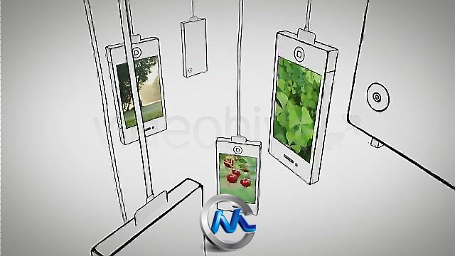 《吊挂手机卡通样式AE模板》Videohive iInstallation 138001