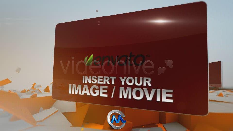 《粉碎变型版块展示AE模板》VideoHive 3D Explode Showcase FullHD 156167
