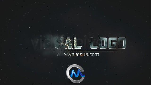 《粉碎闪电LOG标志AE模板》Videohive Logo Reveal Burn 94933