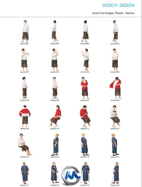 《老年人实拍图片平面素材合辑》DOSCH 2D Viz-Images People Seniors